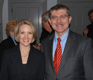Dana Perino and Francesco Isgro
