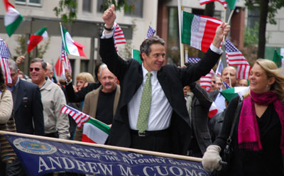 Andrew Cuomo at teh 2009 Columbus Day Parade