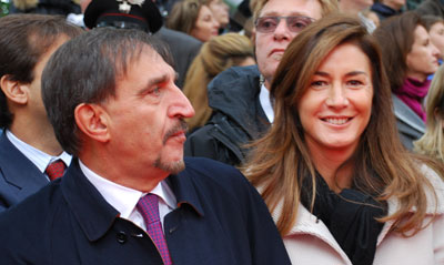 Ignaziio La Russa with his wife Laura La Russa